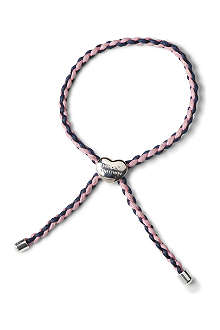 MOLLY BROWN Navy and pink festival friendship bracelet