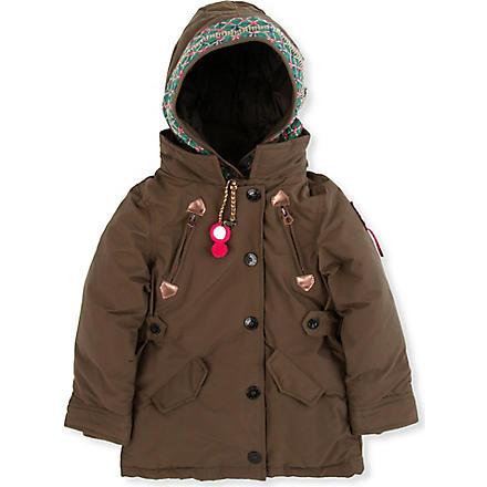 scotch r 39 belle hooded parka jacket 4 14 years khaki. Black Bedroom Furniture Sets. Home Design Ideas