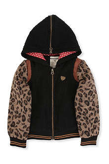 SCOTCH R'BELLE Leopard sleeve hooded jacket 4-14 years