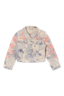SCOTCH R'BELLE Palm print denim jacket 4-16 years