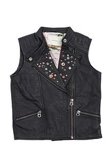 SCOTCH R'BELLE Leather gilet 4-14 years