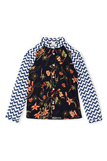 SCOTCH R'BELLE Contrast printed shirt 4-16 years