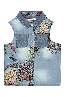 SCOTCH R'BELLE Floral denim shirt 4-16 years