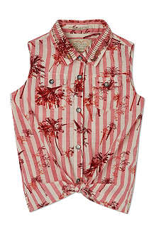 SCOTCH R'BELLE Tie-front sleeveless blouse 4-16 years