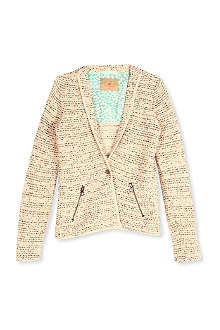 SCOTCH R'BELLE Brushed tweed blazer 4-16 years