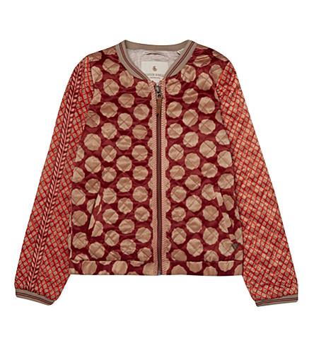 scotch r 39 belle patterned satin bomber jacket 4 16 years dessin r. Black Bedroom Furniture Sets. Home Design Ideas
