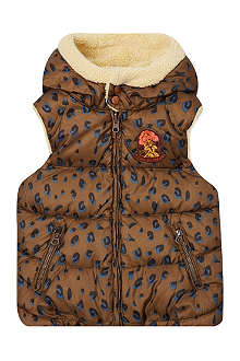 SCOTCH R'BELLE Teddy lined leopard print gilet 4-16 years