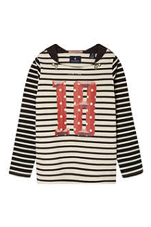 SCOTCH R'BELLE No18 striped sweat