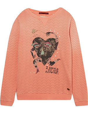 SCOTCH R'BELLE Heart button-back sweater 4-16 years