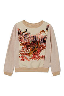 SCOTCH R'BELLE Tiger print sweatshirt 4-16 years