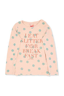 SCOTCH R'BELLE Long-sleeved text and polka dot top 4-14 years