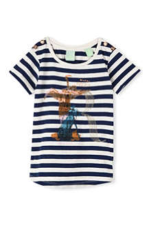 SCOTCH R'BELLE Striped zoo-print t-shirt 4-16 years