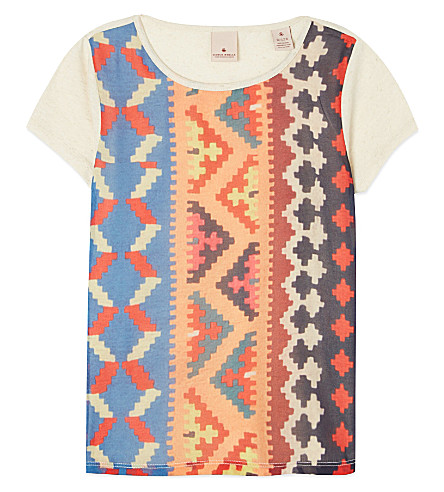 SCOTCH R'BELLE Aztec front ss tshirt (Multi