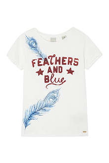 SCOTCH R'BELLE Feathers & Blue t-shirt 4-16 years