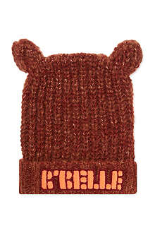 SCOTCH R'BELLE Logo beanie with ears