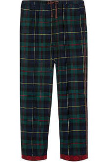 SCOTCH R'BELLE Trimmed cuff tartan trousers 4-16 years