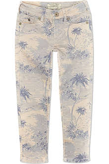 SCOTCH R'BELLE Palm tree print skinny jeans 4-16 years