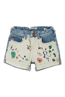 SCOTCH R'BELLE Graffiti print denim shorts 4-16 years