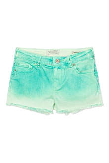SCOTCH R'BELLE Ombre denim cut-off shorts 4-16 years