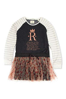 SCOTCH R'BELLE Sweatshirt dress with net skirt 4-14 years