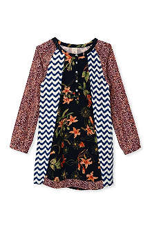 SCOTCH R'BELLE Button front patchwork dress 4-16 years
