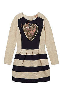 SCOTCH R'BELLE Punk heart striped dress 4-16 years