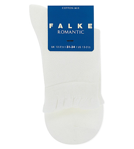 FALKE Romantic cotton-blend lace socks (White