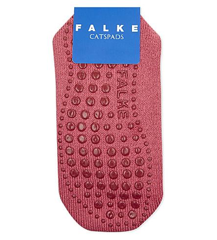 FALKE Catspads merino wool blend slipper socks (Carmine+red