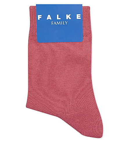 FALKE Family cotton-blend socks (Carmine+red
