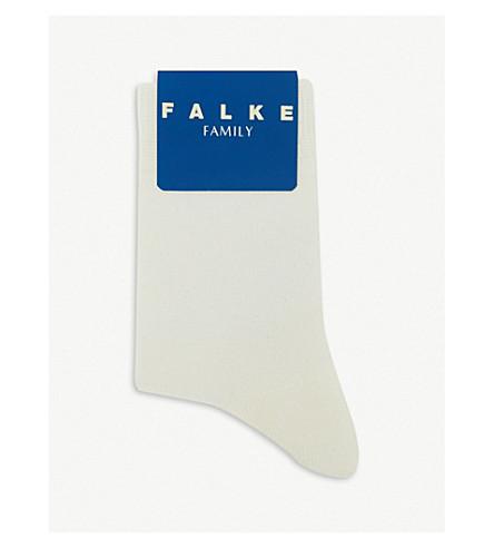 FALKE 系列棉混纺袜子 (对开 + 白