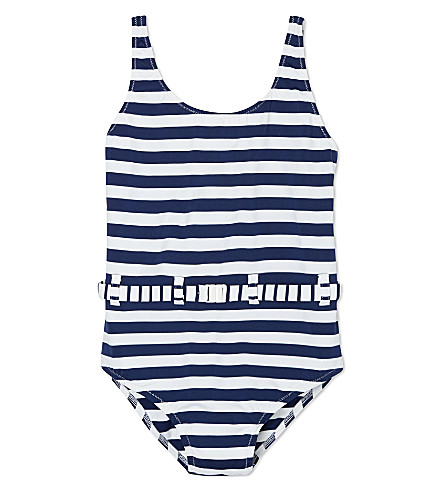MELISSA ODABASH Conny striped swimsuit 2-12 years (Navy