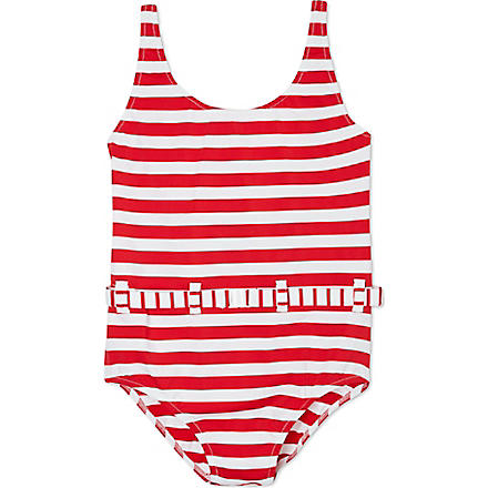 MELISSA ODABASH Conny striped swimsuit 2-12 years (Red