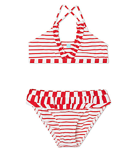 MELISSA ODABASH New York two-piece swimsuit 4-14 years (Red