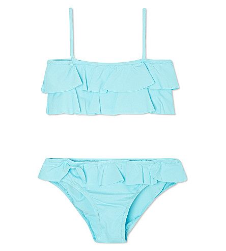 MELISSA ODABASH Frilly two-piece swimsuit 2-14 years (Sky