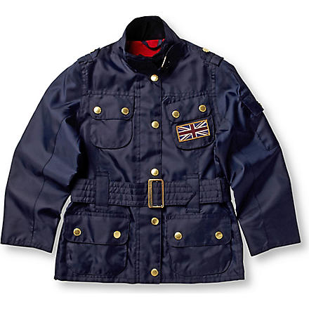 BARBOUR Union Jack International jacket 2-15 years (Navy