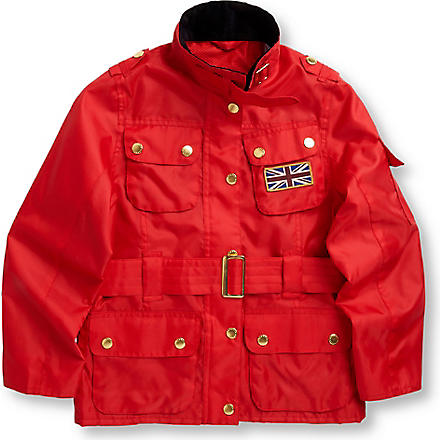 BARBOUR Union Jack International jacket 2-15 years (Red