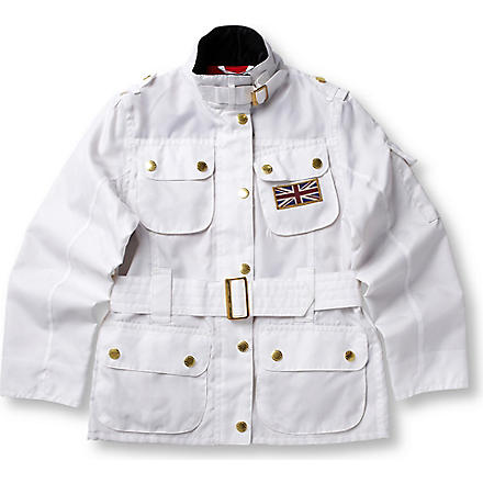BARBOUR Union Jack International jacket 2-15 years (White