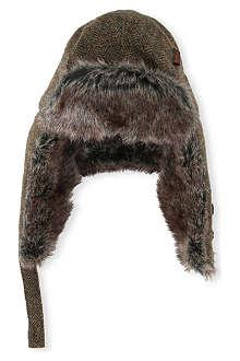BARBOUR Herringbone trapper hat