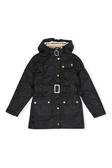 BARBOUR Weyhill waxed-cotton hooded jacket 2-15 years