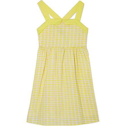 I LOVE GORGEOUS Wide strap checked dress 2-12 years (Yellow