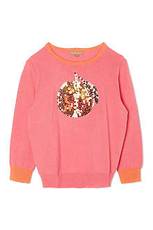 I LOVE GORGEOUS Orange sequin jumper 2-12 years