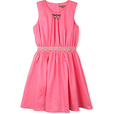 I LOVE GORGEOUS Sahara smocked waist dress 2-12 years (Pink