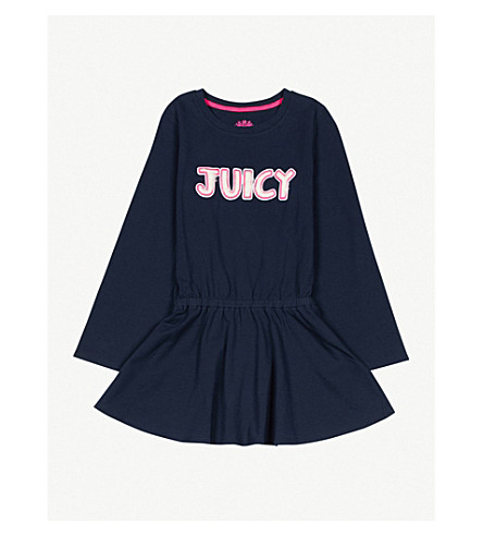 JUICY COUTURE Logo-detail stretch-cotton dress 4-14 years (Regal