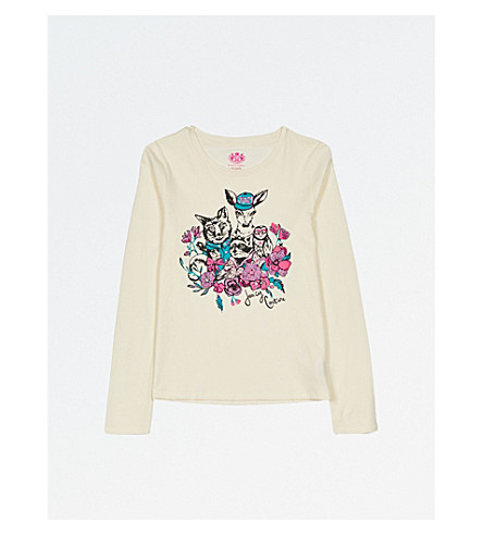 JUICY COUTURE Woodland-print cotton T-shirt 4-14 years (Vanilla