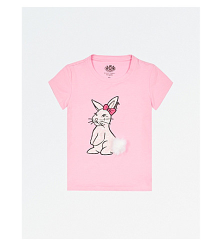JUICY COUTURE Sequin Bunny stretch-cotton T-shirt 4-14 years (Palace