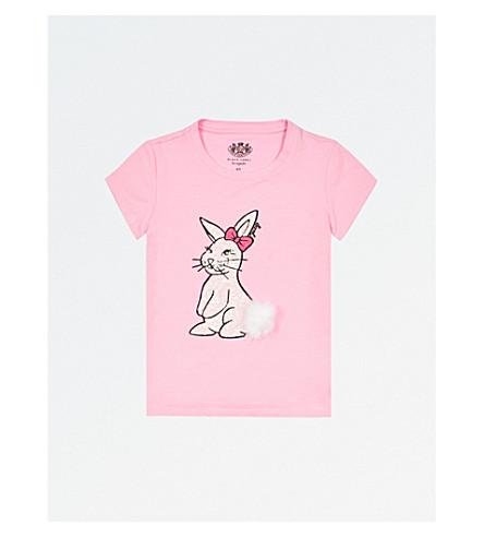 JUICY COUTURE 亮片小兔子弹力棉 t恤4-14 年 (宫殿