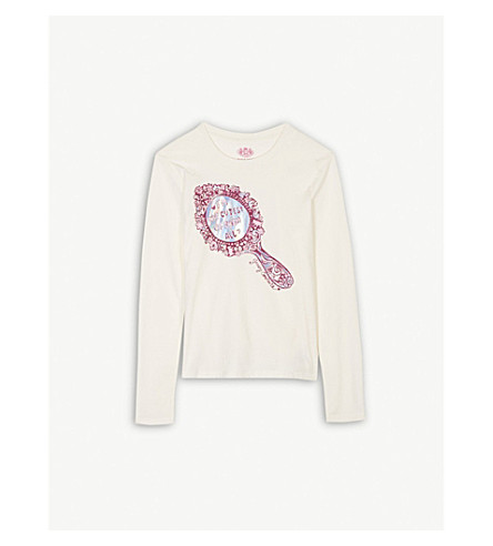 JUICY COUTURE Enchanted mirror print long-sleeved cotton top 4-14 years (Vanilla