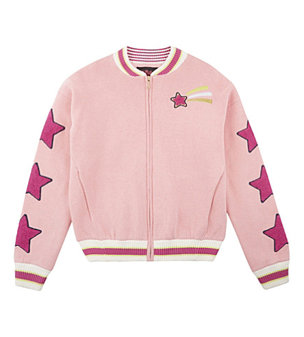 JUICY COUTURE Unicorn doodles zipper-through bomber jacket 4-14 years (Pink+chiffon