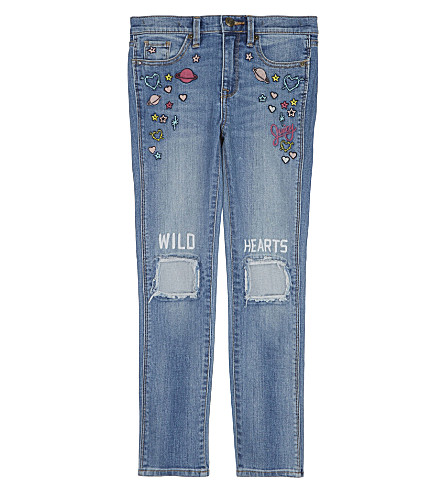 JUICY COUTURE Wild Hearts cotton jeans 4-14 years (Beverly+wash