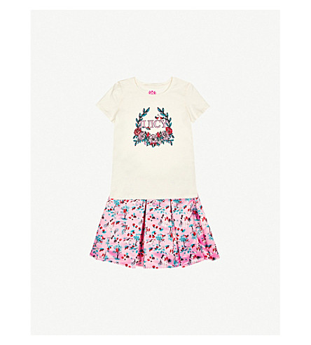 JUICY COUTURE Flower logo cotton-jersey T-shirt 4-14 years (Palace
